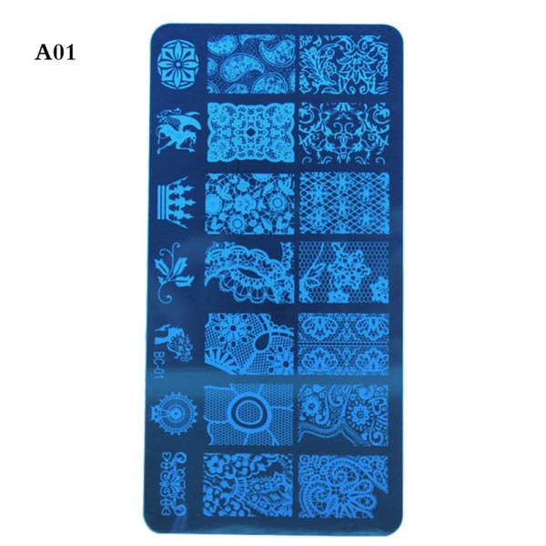 Çiçek Vine Damgalama Plaka Tırnak Raspa Seti Nail transfer levhası Damgalama Aracı Seti Temizle Jelly Silikon Stamper