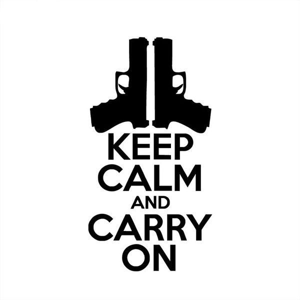 10,5 * 20cm bleiben Sie ruhig und machen Sie weiter mit dem Auto-Aufkleber CA-184