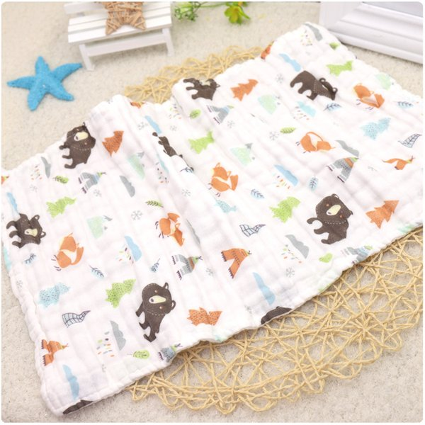 6 layers gauze 100% cotton square scarf baby towel face towel 25*50 baby girl handkerchief soft care comfortable wipes
