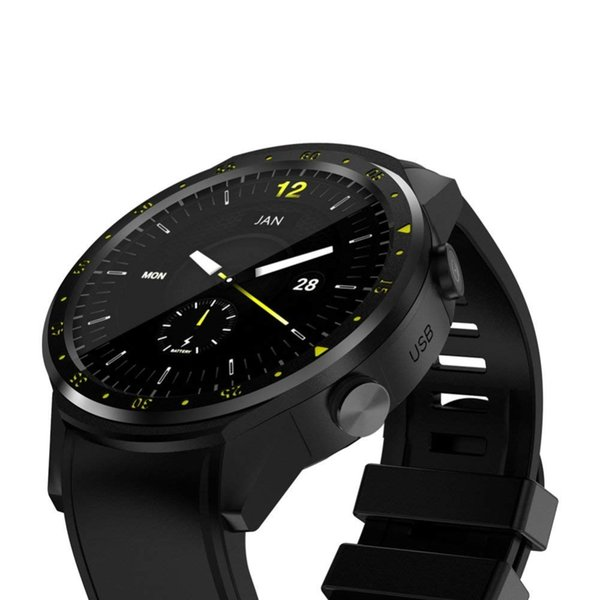 GPS Smart Sport Watch with Dual Camera Altimeter Heart Rate F1 1.3inch Touch Screen Chip Smart Watch For IOS Android