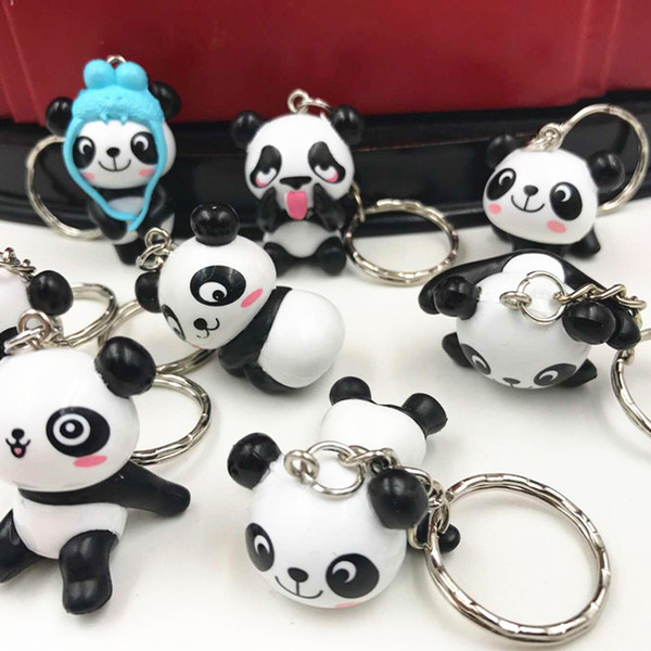 Catena universale a buon mercato catena Panda carino modello portachiavi portachiavi Cinghie di telefono Charms KeyChain Ornamento Cute Cartoon Portachiavi 133