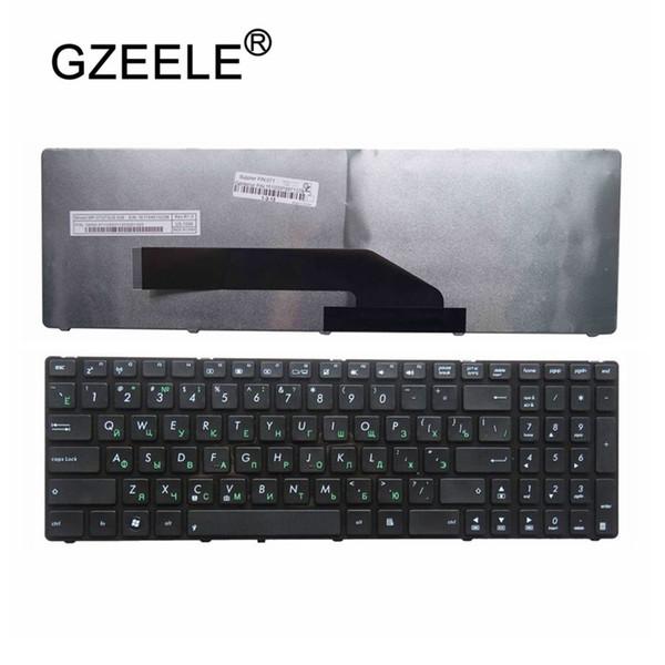 GZEELE NOUVEAU clavier d'ordinateur portable russe POUR ASUS V111462CS2 V090562BS1 MP-07G73US-528 MP-07G73US-5283 0KN0-EL1US02 M60 avec cadre RU