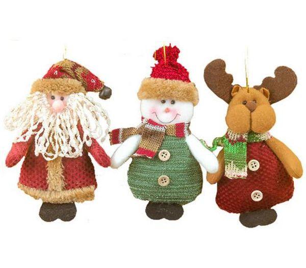 Merry Xmas Christmas Ornaments Supplier Santa Claus Snowman Elk Christmas Tree Hanging Decoration 2018 Home Decor