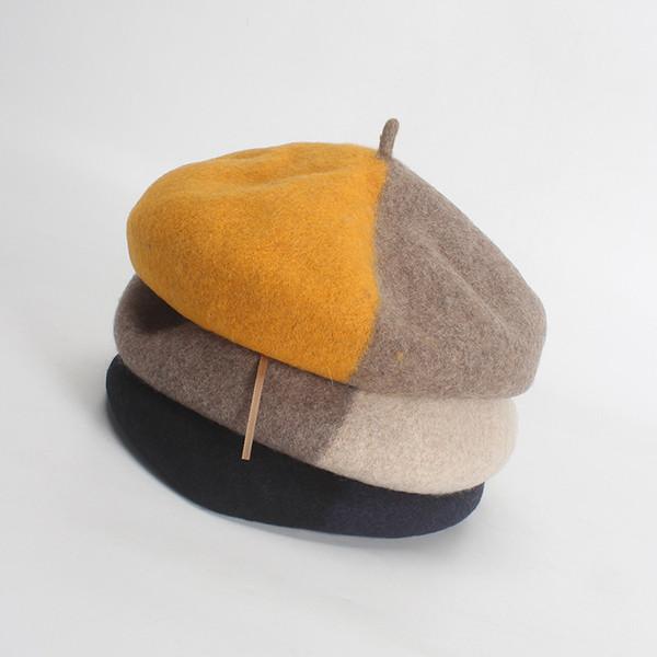 2018 New hot crochet berets ladies berets caps for women winter french hat winter hat for girl bonnet femme Painter hats