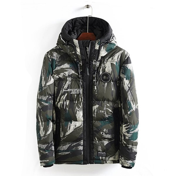 Camo Tactical Military Parka Mens Winter Jackets Hooded Men Coats Thicken Male Camouflage MaleStreetwear Jacket Hoodie Outerwear