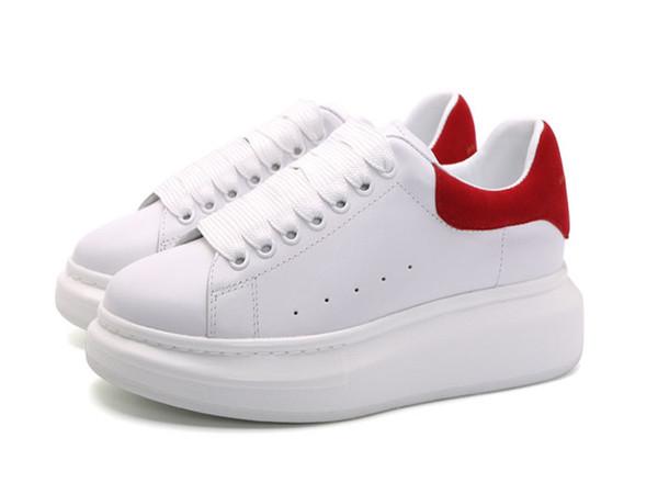 2018 Yeni Mens Womens Moda Lüks Beyaz Deri Platformu Ayakkabı Düz Rahat Ayakkabılar Lady Siyah Pembe beyaz Kadınlar Beyaz sneakers