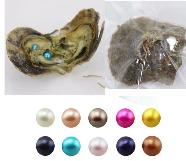 90PCS of single Twins Triplet Quads Round Akoya Pearl Oyster Mix 25 Colors Individual Vacuum Package 6-7mm Saltwater