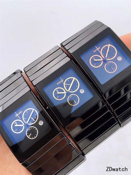 top popular 2018 NEW Full Black Ceramica XL Chronograph Mens Sapphire Wristwatch 2021