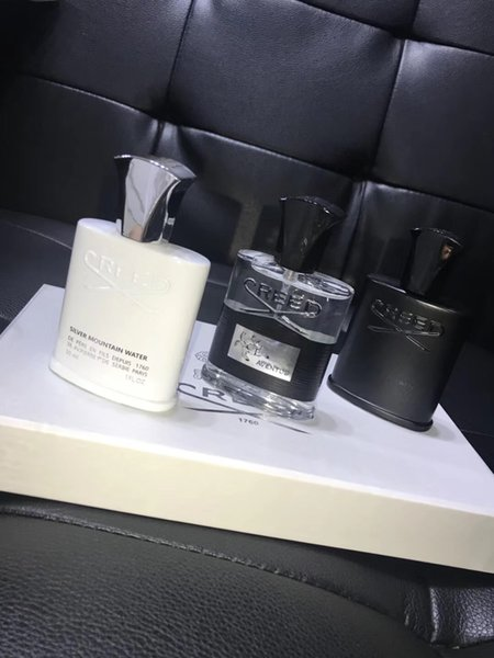 2019 for Christmas Gift!! Creed Silver Mountain Water By Creed for Unisex 30ml*3 Millesime Spray Perfume Set Gift Box (with Gift Box)