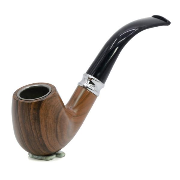 La nueva llegada al por mayor de la longitud 13CM del tazón de fuente de madera del metal que fumaba las pipas antiguas del tabaco del color