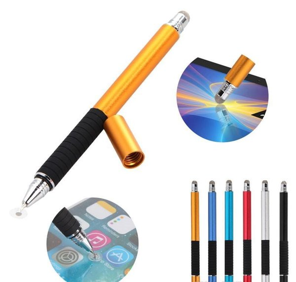 High qulity 2 in 1 Multifunction Fine Point Round Thin Tip Touch Screen Pen Capacitive Stylus Pen For Smart Phone Tablet iPad iPhone