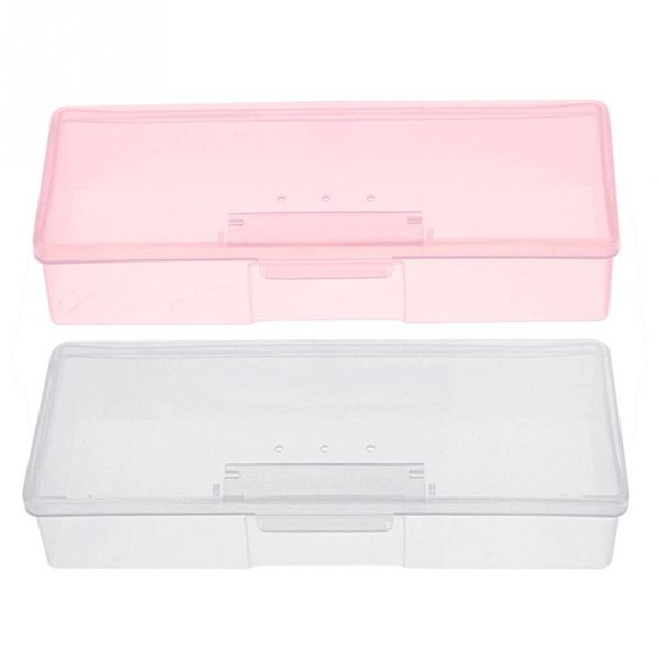 Nail Art Tool Nail File Brushes Storage Box Supplies Container Cuticle Pushers Organizer Empty Case free shipping