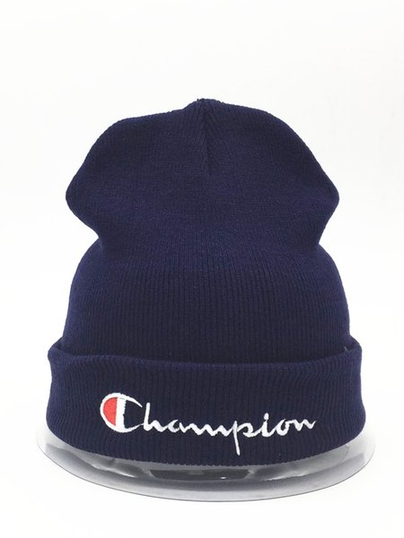2018 HOT Knitted Hat Designer Champion Winter Warm Thick Beanie Fedora gorro Bonnet Skull Hats for Men women Crochet Skiing Cap hat