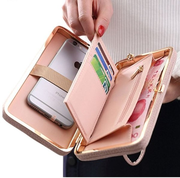 Luxury Women Wallet Phone Bag Leather Case For iPhone X 8 7 6s Plus For Samsung Galaxy S7 Edge S6 Xiaomi Redmi