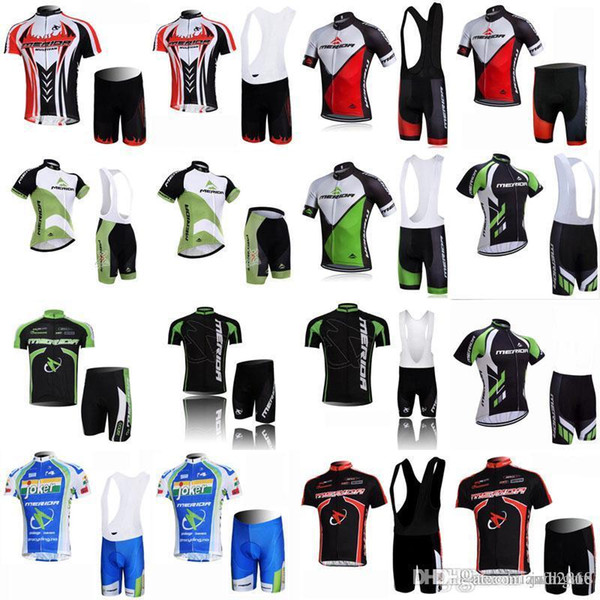 MERIDA team Cycling Short Sleeves jersey (bib) shorts sets Bicycle MTB bike clothing Ropa ciclismo 3D gel pad E0556