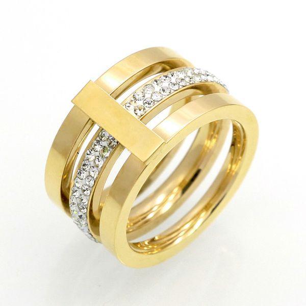 High Quality New Fashion Style Women Jewelry Three Layers Diamond
