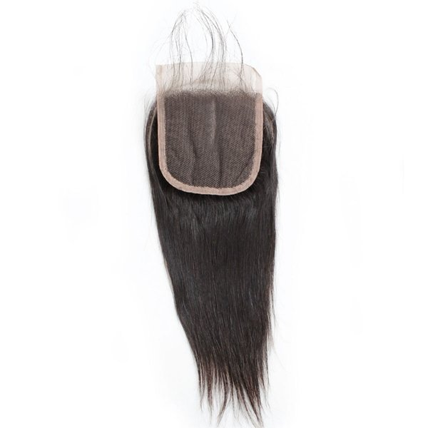 Silky Straight Fashion Lace Closure with Baby Hair 1pc Middle Part Three Part Brazilian Peruvian Malaysian Virgin Hair Swiss Lace Closure