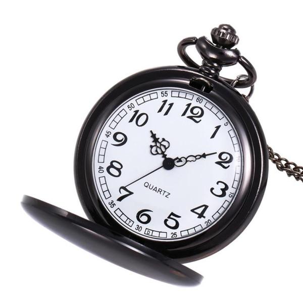 Taç Unisex Moda Bronz Zincir Kolye Cep İzle Erkekler Spor Kuvars Saatler Marka Lüks Erkek megir izle saat