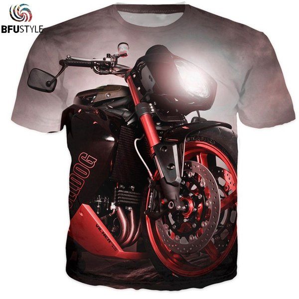 Motorcycle Engine 3D T-Shirt Men Women Short Sleeve O Neck Summer Tops Casual Hip Hop Tee Shirt Homme All Over Printed T Shirt