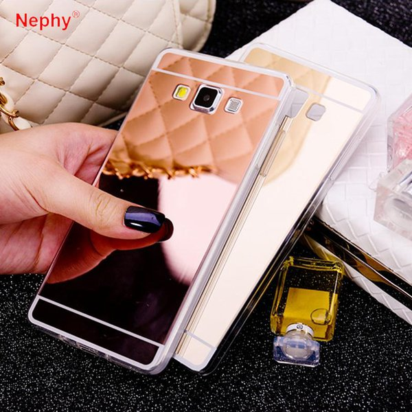 Mobile Phone Case For Samsung Galaxy A3 A5 A7 J1 J3 J5 J7 2015 2016 2017 A8 Plus 2018 Prime Mirror Silicone TPU Back Cover