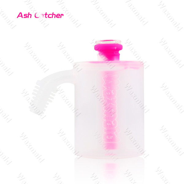 Ash Catcher Dab Rig for 14mm 18mm Slide Glass Water Pipe Big Water Bong with Display Box