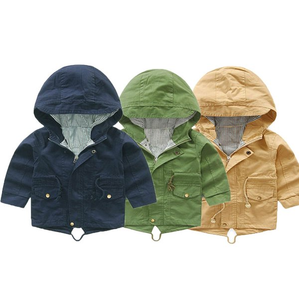 V-TREE Boys Trench Coats Hooded Jackets For Babies Children Windbreakers Toddlers Outerwears Kids Overcoats Baby Poncho