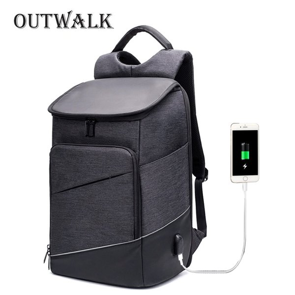 "New Men Oxford 16/"" Laptop Backpack With USB Port Travel School Bags Anti-Theft"