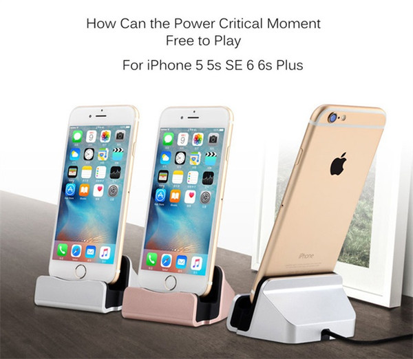 Most popular wholesale desktop charger USB Cradle charging stand for iphone 7 8 plus for Android free shipping dhl