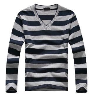 Nvay and gray Stripe