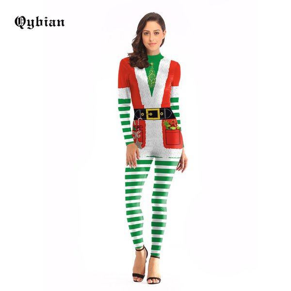 077606601d 2018 Qybian Stripe Costume Cosplay Christmas Jumpsuit Christmas Costumes  For Women Plus Size Bodysuit From Cutelove66, $38.68 | Dhgate.Com