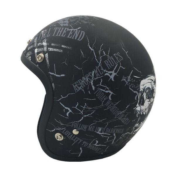 Vintage Motorrad Helm Jet Casco Retro offenen Gesicht Helme für Harley Motorrad Roller Pilot Vespa Moto Helm VCOROS Marke