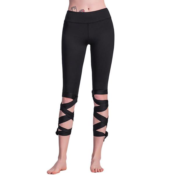 Nuevas mujeres atractivas de la manera atan para arriba las polainas del baile del ballet de cintura alta empuja hacia arriba los pantalones flacos de la aptitud Pantalon Leggings del entrenamiento