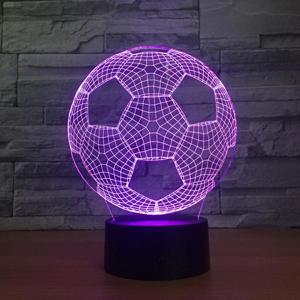 Grosshandel 3d Stilvolle Led Lampen Noten Sensor Fussball Formige 3d Nachtlicht Fur Fussball Sport Fans Besten Geschenk Dekoration Licht