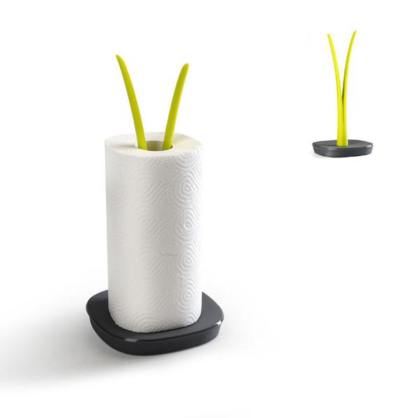 Suporte de toalha de papel decorativo ou suporte de papel higiênico - suporte de toalha de bancada vertical ou suporte de rolo base anti-derrapante