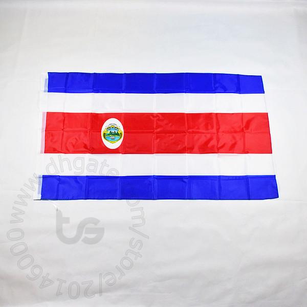 Drapeau du Costa Rica Livraison gratuite 90 * 150cm Hanging Costa Rica drapeau national la coupe du monde décoration Costa Rica