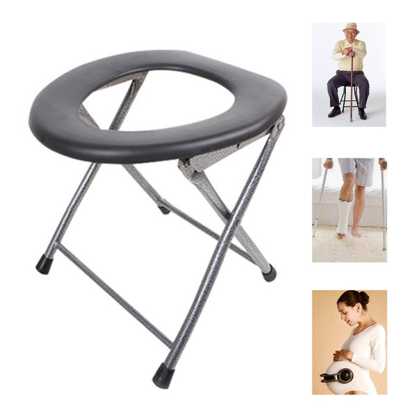 Professional portable Folding Toilet Stool Old Pregnant Women Sit Chair Travel Camping for disabled or patient