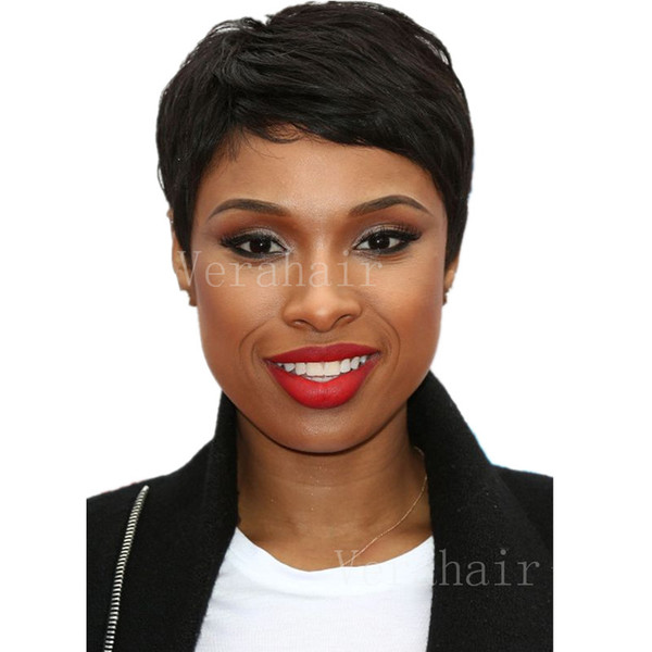 African American Short Pixie cut lace wig full lace Pixie Cut Short Human Hair Wigs For Black Women Brazilian Full Lace Front Bob Hair