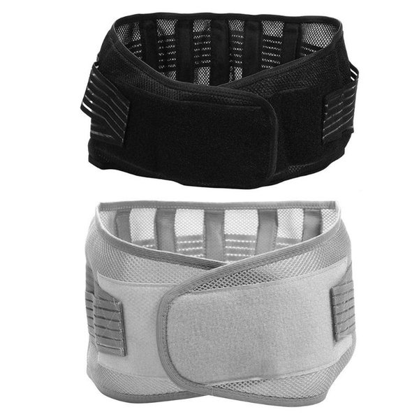Hombres Mujeres Elásticos Respirables Lumbar Brace Cintura Soporte Corsé Postura Ortopédica Espalda Cinturón Equipo de Gimnasia Accesorios Deportivos