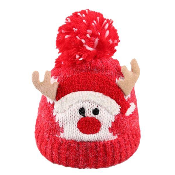 Natale Bambino Bambini Ragazze Ragazzi Inverno caldo in maglia di lana Beanie Cappelli Natale carino cervi tappi per le forniture di Natale