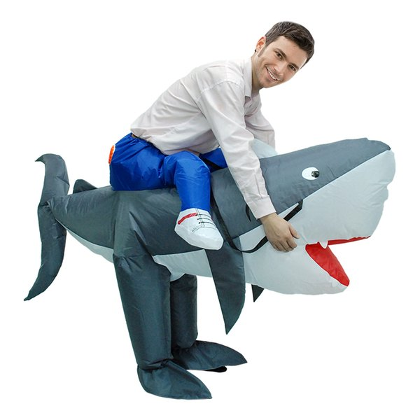 Hot Carnival Anime Halloween Party Inflatable Shark Costume Animal Shark Suits For Women Men Adult Fancy Dress Mascot WSJ-37