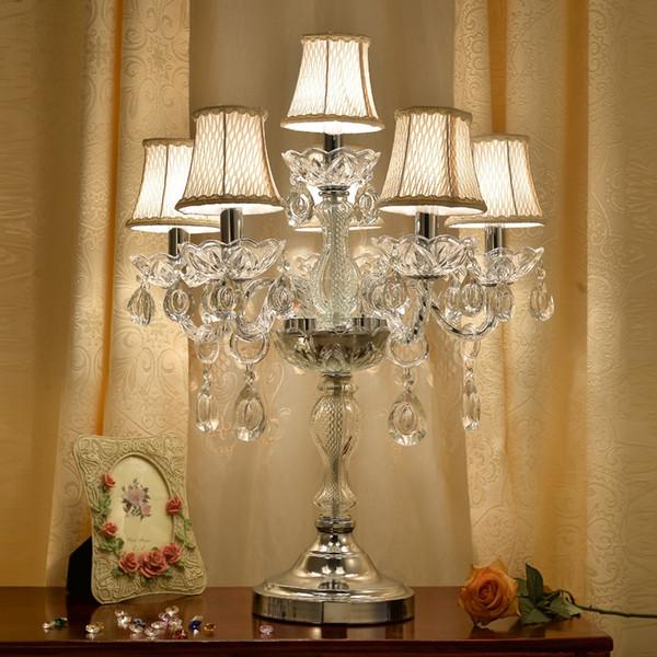 Acquista Lampade Da Tavolo Moderne Lampada Da Comodino In Cristallo Camera  Da Letto Lampada Da Tavolo In Cristallo Di Lusso Americano K9 Cristallo Di  ...