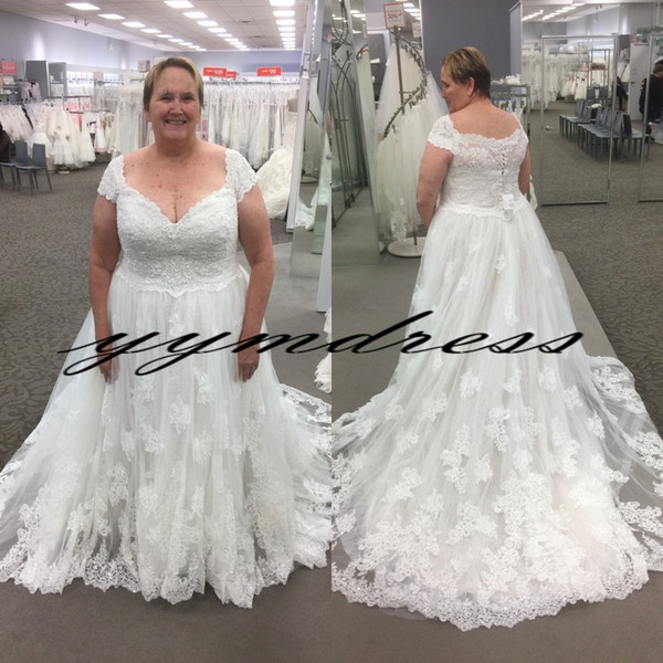 Milla Nova 2019 Beach Wedding Dresses Plus Size Boho A Line Bridal Gowns Sweep Train Sheer Neck Lace robe de mariage vestido de noiva
