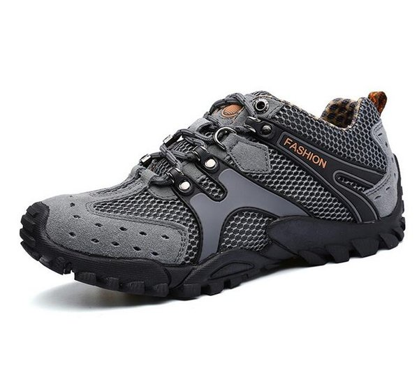 Men Outdoor Mountaineering Walking Shoes Sports Shoes Travel Flats Casual Shoe Lace-Up Travel Anti-skid Wear-resistant Shock Absorption Shoe