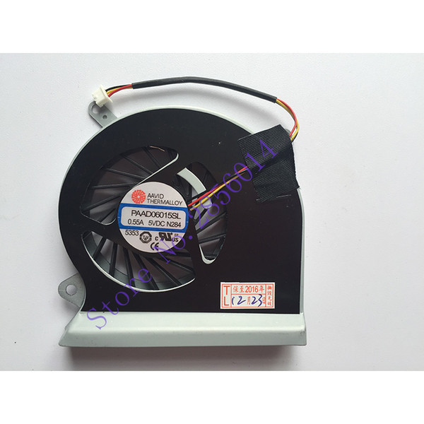 New CPU fan for MSI GE70 laptop CPU cooling fan cooler PAAD0615SL 3pin 0.55A 5VDC N285