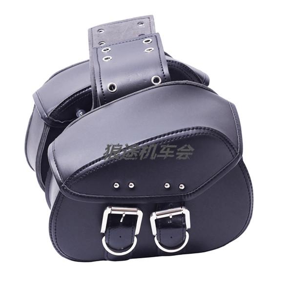 Motorrad schwarz / braun Satteltaschen elektrisch modifizierten Rand Paket Tasche Satteltaschen Seitentasche Reiten MINI Saddle Pack Kits