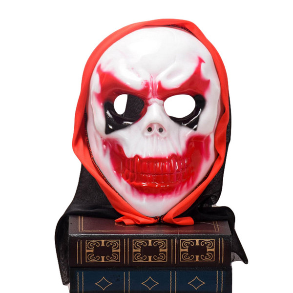 Scary Clown Latex Mask Big Mouth Red Hair Nose Cosplay Full Face Horror Masquerade Adult Ghost Party Mask