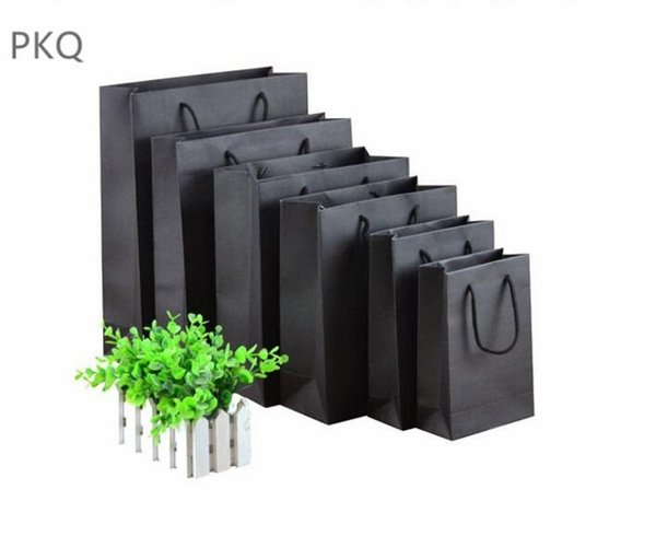10pcs High Quality Small Gift Bag White/Black/Pink Kraft Paper Bag for Packaging Jewelry Cardboard Paper Bags with Handles