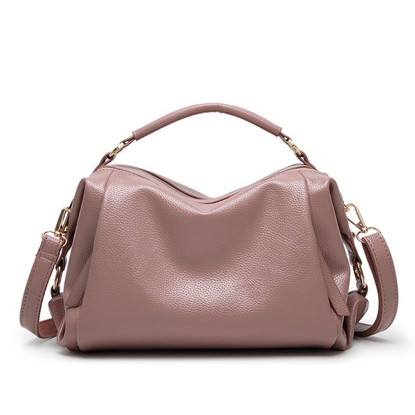 2019 Fashion Luxury Brand Genuine Leather bag Women leather bag Shoulder bags Female Crossbody Red Pink Black Gray 2018 new