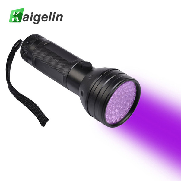 Kaigelin 51 LED UV Flashlight 395-400nm Scorpion Detector Hunter Finder Ultra Violet Blacklight Flashlight Torch Streamlight