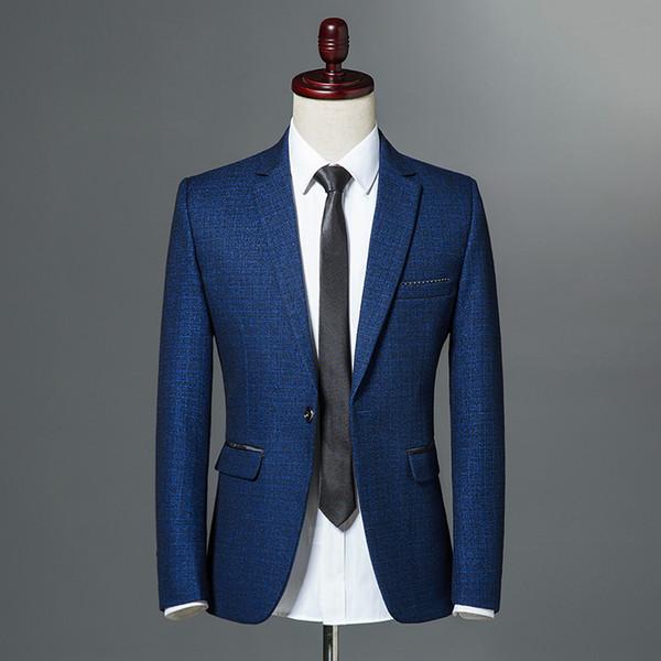 Nouvelle Collection 2018 Bleu marine Veste à Bouton Bleu